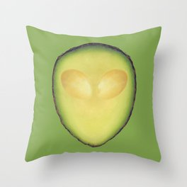 Avocalien Throw Pillow
