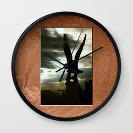 Americana - Memorial - Statue of Liberty - Manhatten - NYC Wall Clock