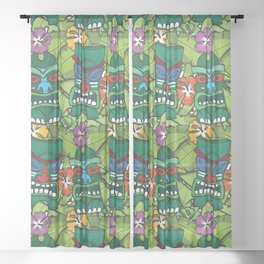 Tiki Tropics Sheer Curtain