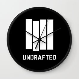 Undrafted Wall Clock