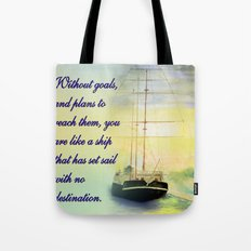 Without goals and plans Tote Bag