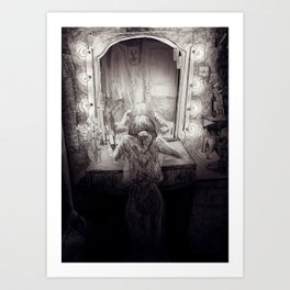 A crying showgirl Art Print