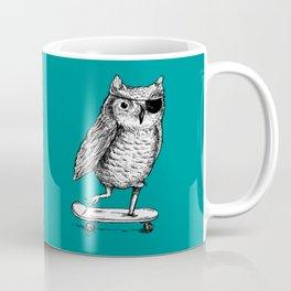 Ride On Owl_teal Coffee Mug