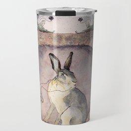 Down the Rabbit Hole Travel Mug