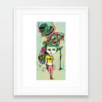 tyler durden Framed Art Prints featuring Love Tyler Durden by Veronica Atomica