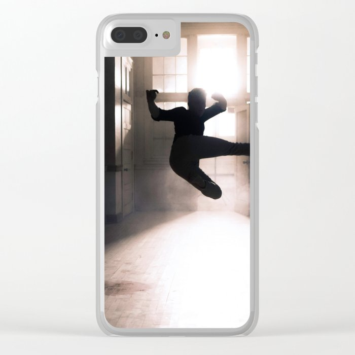 Jump contre jour Clear iPhone Case