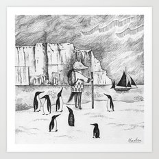 Antarctic explorer Art Print