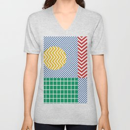 colored lines Unisex V-Neck