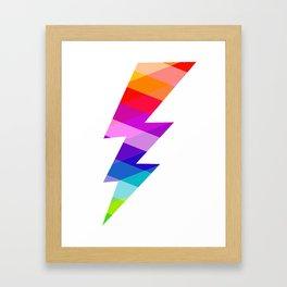 Jewelled Lightning Framed Art Print