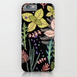 mysterious herbs iPhone Case