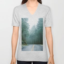 Forest Road Trip Unisex V-Neck