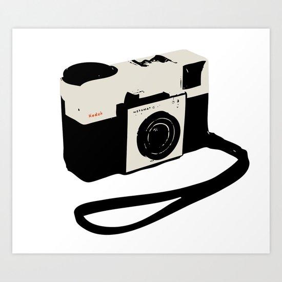 ivory kodak instamatic camera Art Print