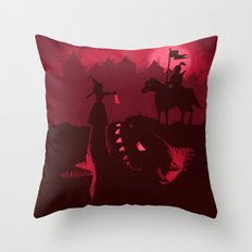 Farewell Brave Knight Throw Pillow