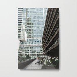 City contemplation Metal Print