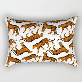 Tigers (White and Orange) Rectangular Pillow