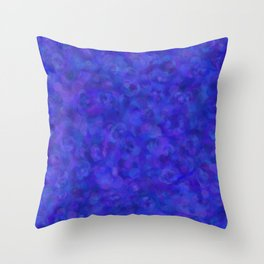 Royal Blue Floral Abstract Throw Pillow