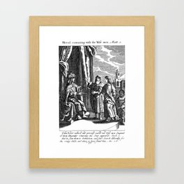 Herod and the Wise Men Framed Art Print