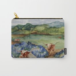 Just the Longhorns, Hanging Out Carry-All Pouch