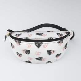 Valentine Love Heart Pattern -  Mix & Match with Simplicty of life Fanny Pack