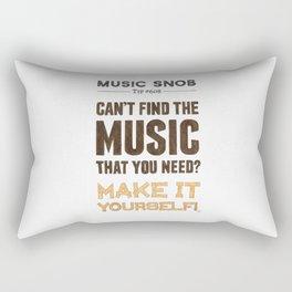 D. I. Y. — Music Snob Tip #608 Rectangular Pillow