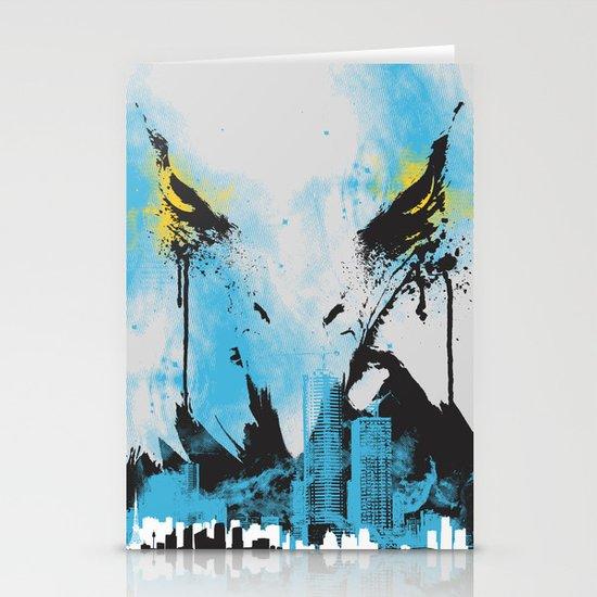 Eagle Eye Watching - Blue Stationery Cards