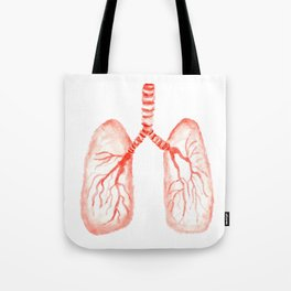 Human lungs Tote Bag