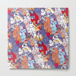 Smaller Space Toons in Color Metal Print
