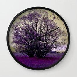 landscape in purple Wall Clock