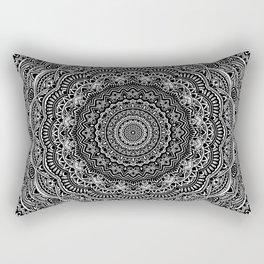 Zen Black and white mandala Sophisticated ornament Rectangular Pillow