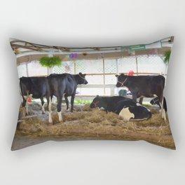Black and white cow 2 Rectangular Pillow