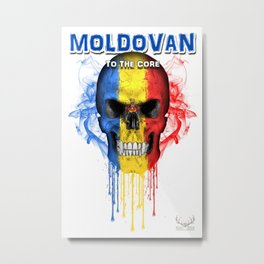 To The Core Collection: Moldova Metal Print