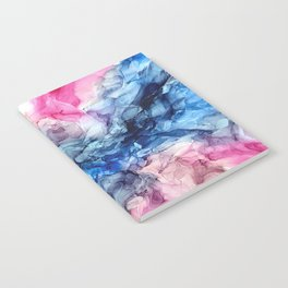 Soul Explosion- vibrant abstract fluid art painting Notebook