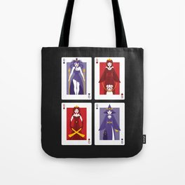 Poker of Queens Tote Bag