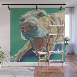 Yellow Labrador Dog Portrait Wall Mural