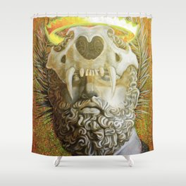 """""""The Protector"""" Shower Curtain"""
