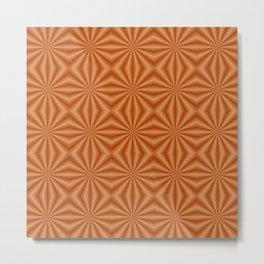 Orange Quilted Pattern Metal Print