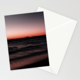 Sunset Shades of Magenta Beach Ocean Seascape Landscape Coastal Wall Art Print Stationery Cards
