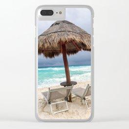 Cancun beach, Mexico Clear iPhone Case
