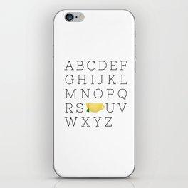 Alphabet Tea iPhone Skin
