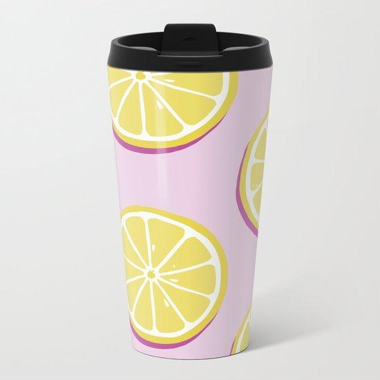 Lemons Metal Travel Mug