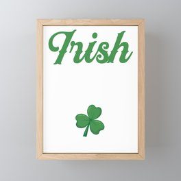 Irish As Feck St. Patrick's Day Gift Framed Mini Art Print