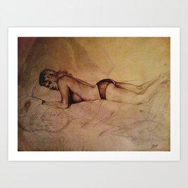 Mary Sleeping Art Print