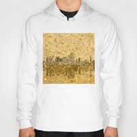 dallas Hoodies featuring dallas city skyline by Bekim ART