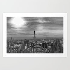 Parisian Skyline Art Print
