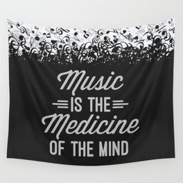 Music Medicine Mind Quote Wall Tapestry