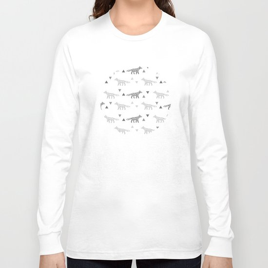 Fox Pattern Long Sleeve T-shirt