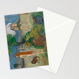 Paradise Lost by Paul Gauguin Stationery Cards