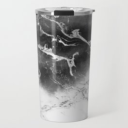 Modern black and white marble ombre watercolor color block Travel Mug