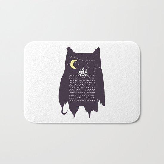 Pirate owl Bath Mat
