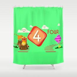 Number four - Kids Art Shower Curtain
